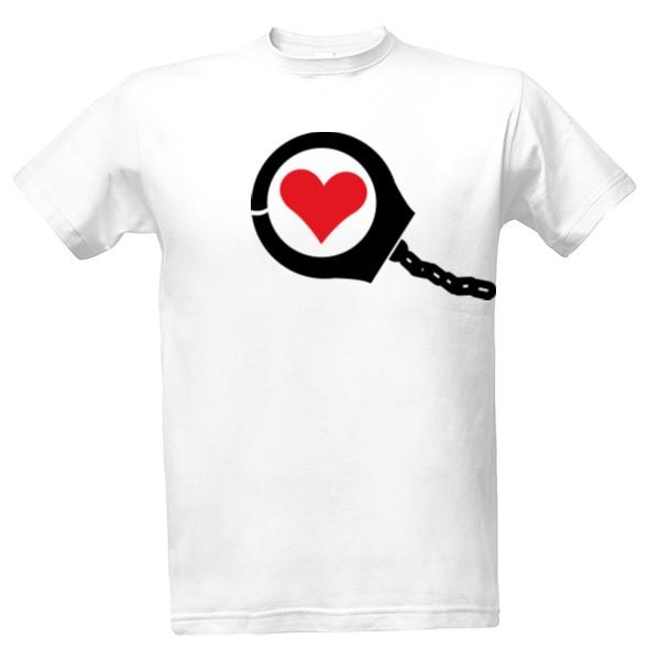 c579c5c6b5d8 Tričko s potlačou Srdce v poutech