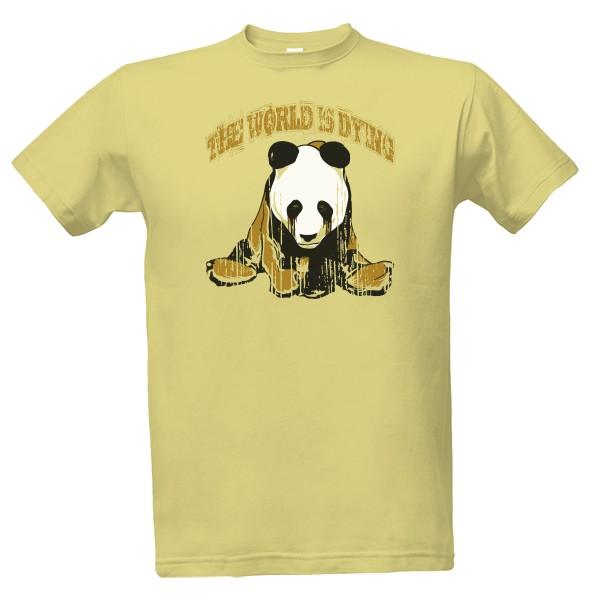 469d80cab55 Tričko s potiskem Smutná panda